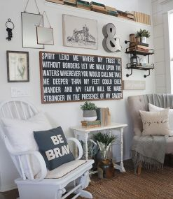 Farmhouse Gallery Wall Ideas 67