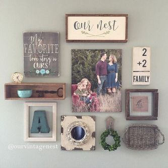 Farmhouse Gallery Wall Ideas 69