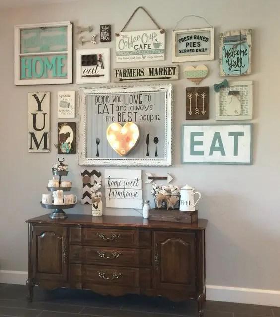 Farmhouse Gallery Wall Ideas 99