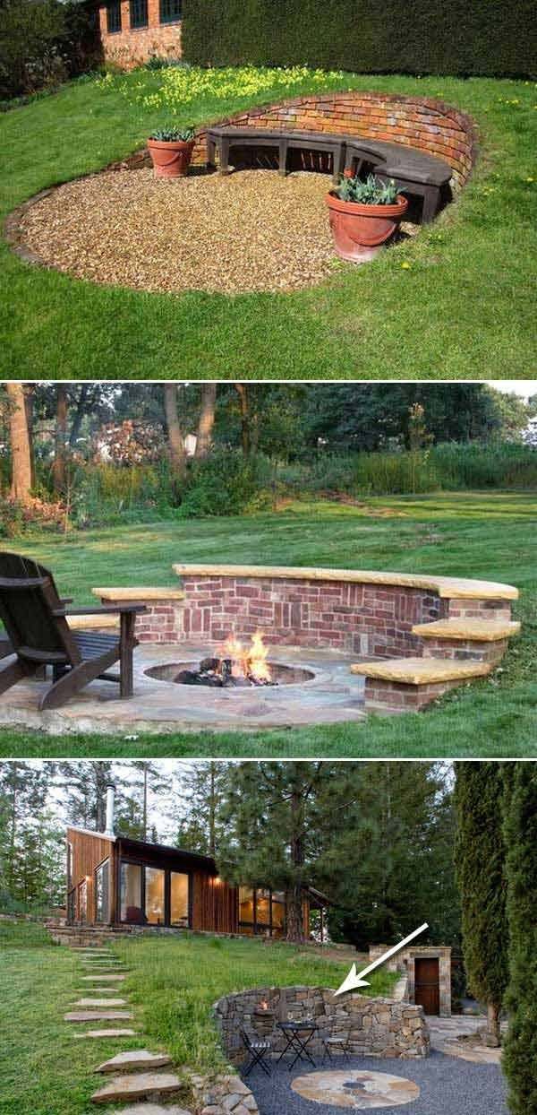 Fire Pit Seating Ideas 100