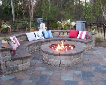 Fire Pit Seating Ideas 104