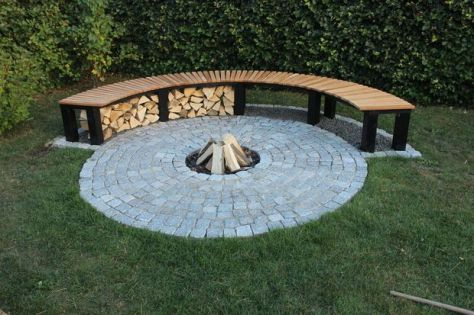 Fire Pit Seating Ideas 111