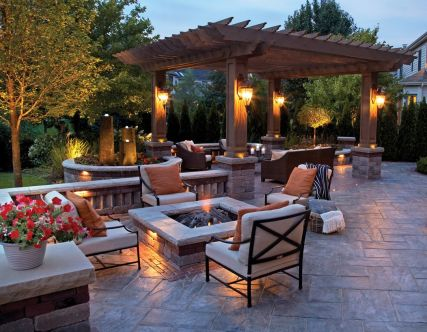 Fire Pit Seating Ideas 128