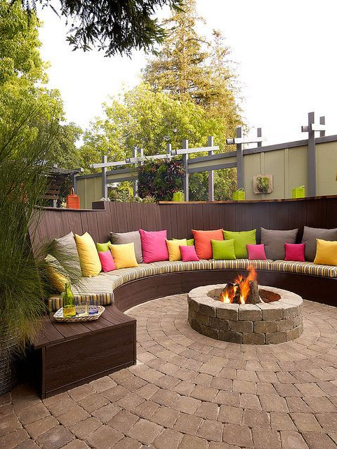 Fire Pit Seating Ideas 14