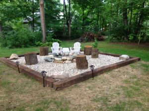 Fire Pit Seating Ideas 148