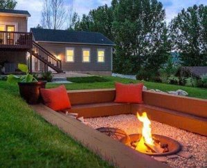Fire Pit Seating Ideas 36
