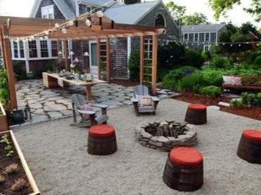 Fire Pit Seating Ideas 57
