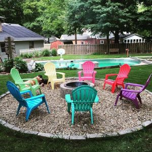 Fire Pit Seating Ideas 73