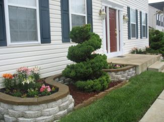 Flower Beds In Front Of House 122