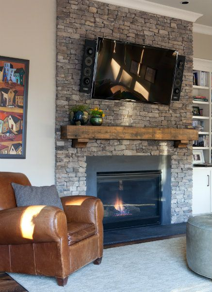 Reclaimed Wood Fireplace 100