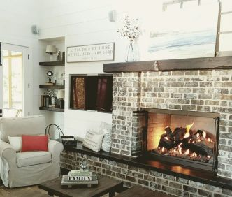 Reclaimed Wood Fireplace 108
