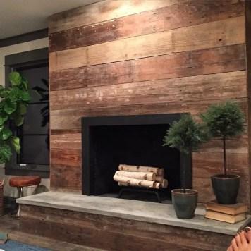 Reclaimed Wood Fireplace 11