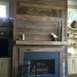Reclaimed Wood Fireplace 110
