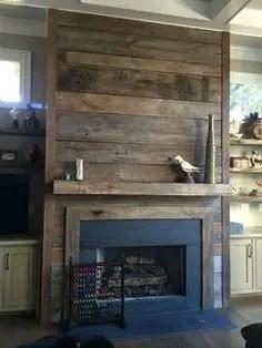 Reclaimed Wood Fireplace 110