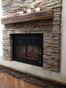 Reclaimed Wood Fireplace 112