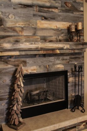 Reclaimed Wood Fireplace 117