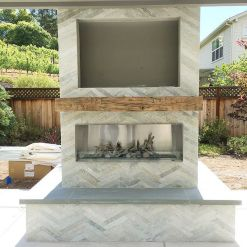 Reclaimed Wood Fireplace 119
