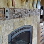 Reclaimed Wood Fireplace 122