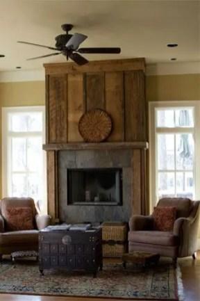 Reclaimed Wood Fireplace 124