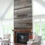Reclaimed Wood Fireplace 125