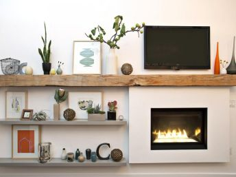 Reclaimed Wood Fireplace 130