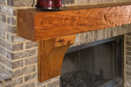 Reclaimed Wood Fireplace 135