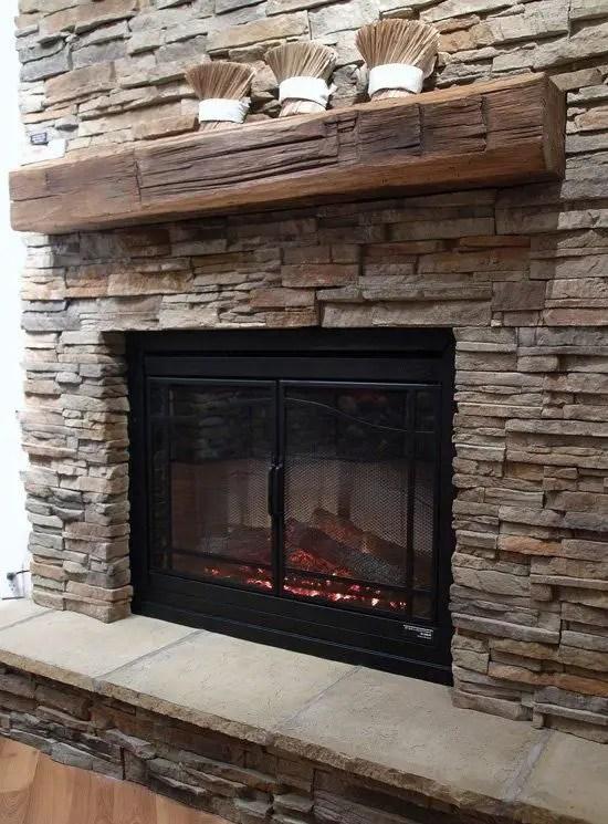 Reclaimed Wood Fireplace 136