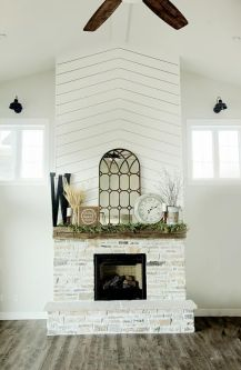 Reclaimed Wood Fireplace 146