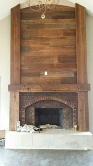 Reclaimed Wood Fireplace 147