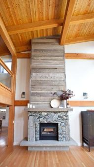 Reclaimed Wood Fireplace 148