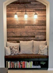 Reclaimed Wood Fireplace 17