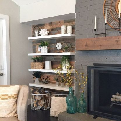 Reclaimed Wood Fireplace 2