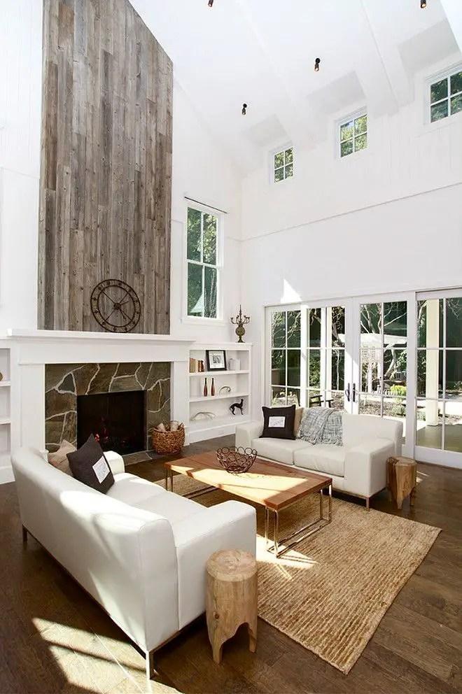 Reclaimed Wood Fireplace 3