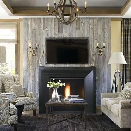 Reclaimed Wood Fireplace 30