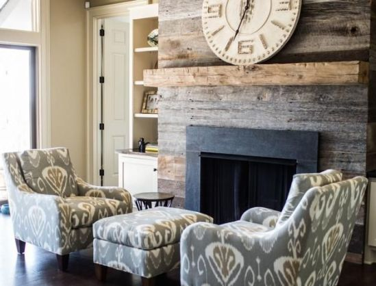 Reclaimed Wood Fireplace 32