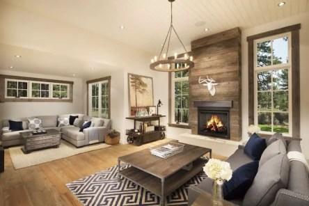 Reclaimed Wood Fireplace 49