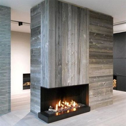Reclaimed Wood Fireplace 51