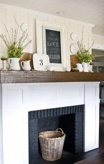 Reclaimed Wood Fireplace 54