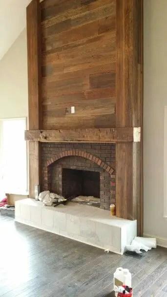 Reclaimed Wood Fireplace 57
