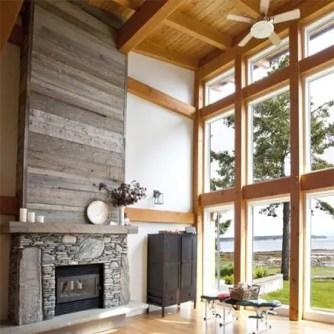 Reclaimed Wood Fireplace 6