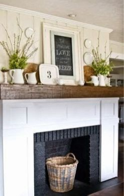 Reclaimed Wood Fireplace 62