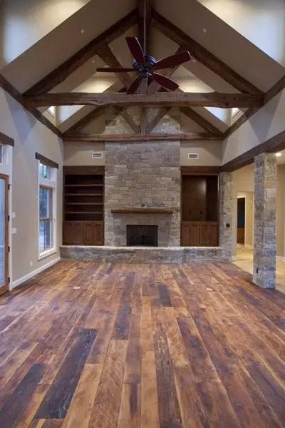 Reclaimed Wood Fireplace 67