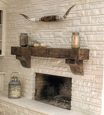 Reclaimed Wood Fireplace 95