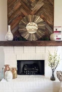 Reclaimed Wood Fireplace 96