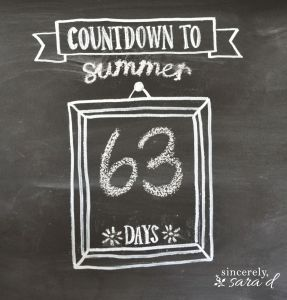 Summer Chalkboard Art 52