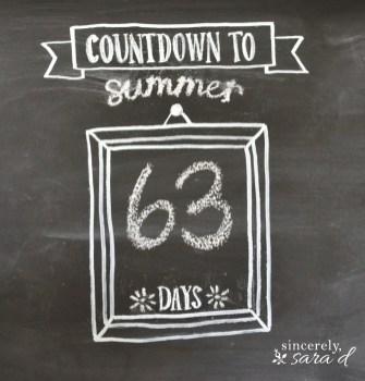 Summer Chalkboard Art 52