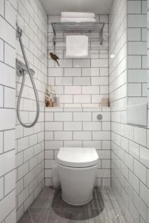 Tiny Master Bathroom 142