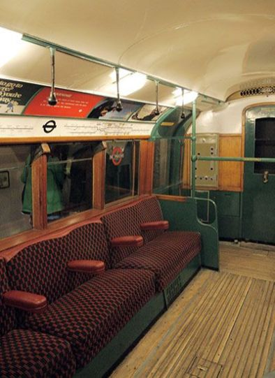 Interior Of 70's London Underground Train