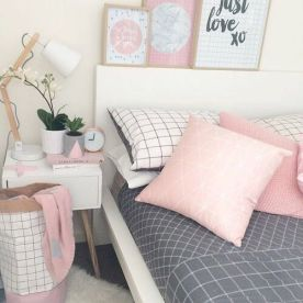 White And Pastel Bedroom 150