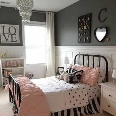 White And Pastel Bedroom 16